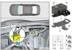 Relay, electric fan motor K5