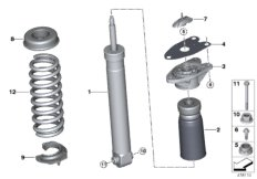Shock absorber, rear