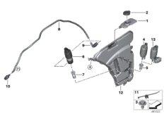 Reservoir,windscr./headlight washer sys.