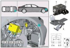 Relay, electric fan motor 850W K5