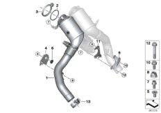 Engine-compartment catalytic converter