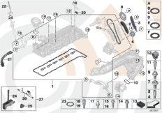 Repair kit, open timing chain, top