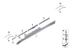 M trim, sill / wheel arch