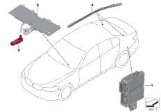 LED module/fibre-optic conductor/ECU