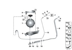 Expansion tank/tubing/pressure sensor