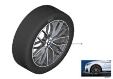 BMW LA wheel M Perf. double spoke 405M