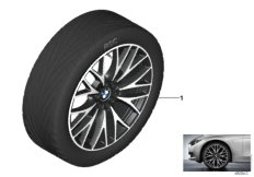 BMW LA wheel cross-spoke 404 - 20''
