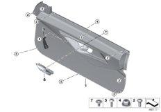 Door trim panel assy, front