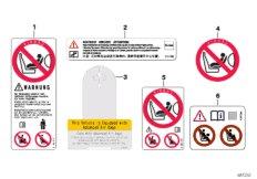 Instruction notice, Airbag