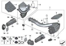Intake silencer/Filter cartridge/HFM