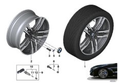 """BMW LA wheel double spoke 727M - 19"""""""