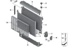 Radiator mounting parts