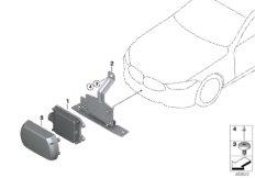 Front radar sensor long range