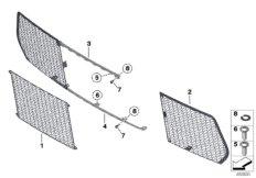 Trim panel, trim elements, front
