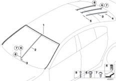 Glazing, mounting parts