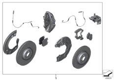 Set, M Performance brake, front/rear
