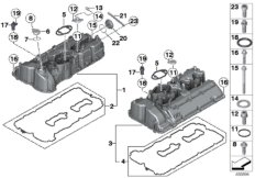 Cylinder head / Cover / Gaskets