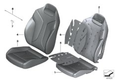 Seat, front, cushion, & cover,basic seat