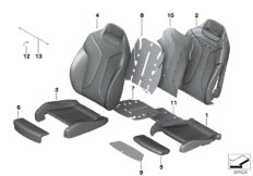 Seat, front, cushion& cover,comfort seat