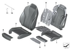 Front seat cushion & cover M sport seat