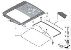 Sliding lifting roof frame