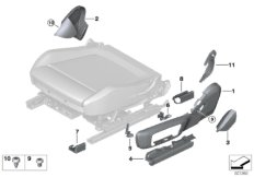 Seat, front, seat panels, electrical