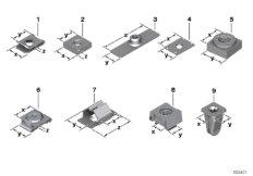 Mechanical connection elements
