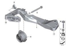 Gearbox suspension, 4-wheel drive