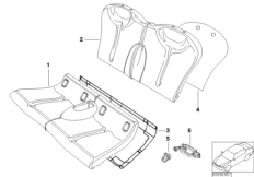 Seat, rear, cushion, & cover, basic seat